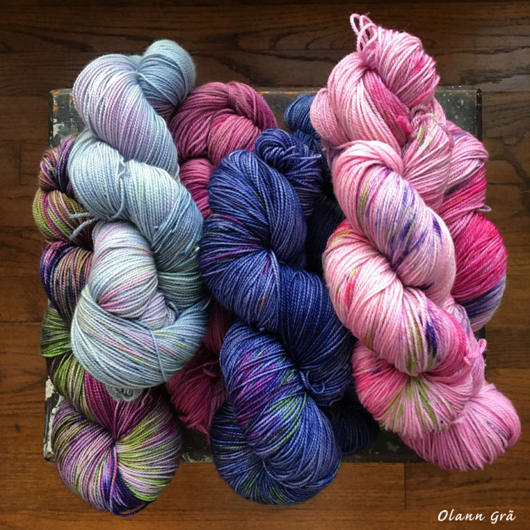 Hand dyed yarn for the 2016 New England Fiber Festival