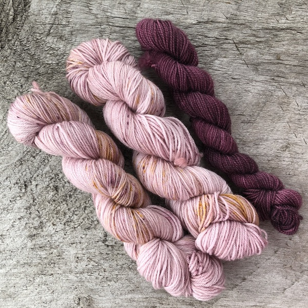""" Say it Ain't So "" by Olann Gra Hand Dyed Yarns. Available in many different weights. Visit the shop at olanngra.com to learn more."