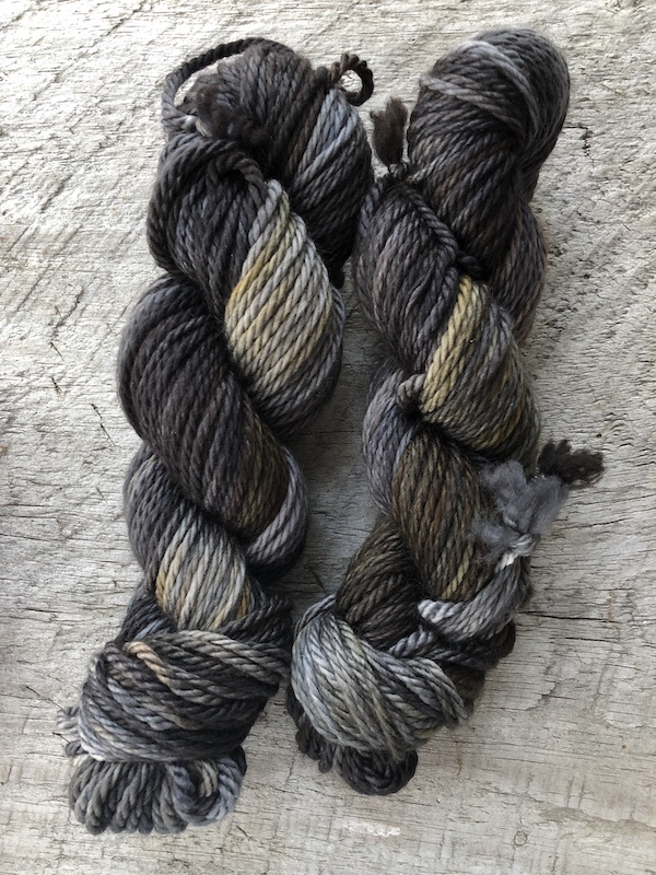 """ Wood Smoke "" by Olann Gra Hand Dyed Yarns. Available in many different weights. Visit the shop at olanngra.com to learn more."