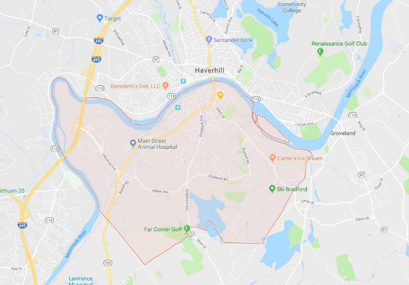 Bradford, MA - the 'nice' part of town.