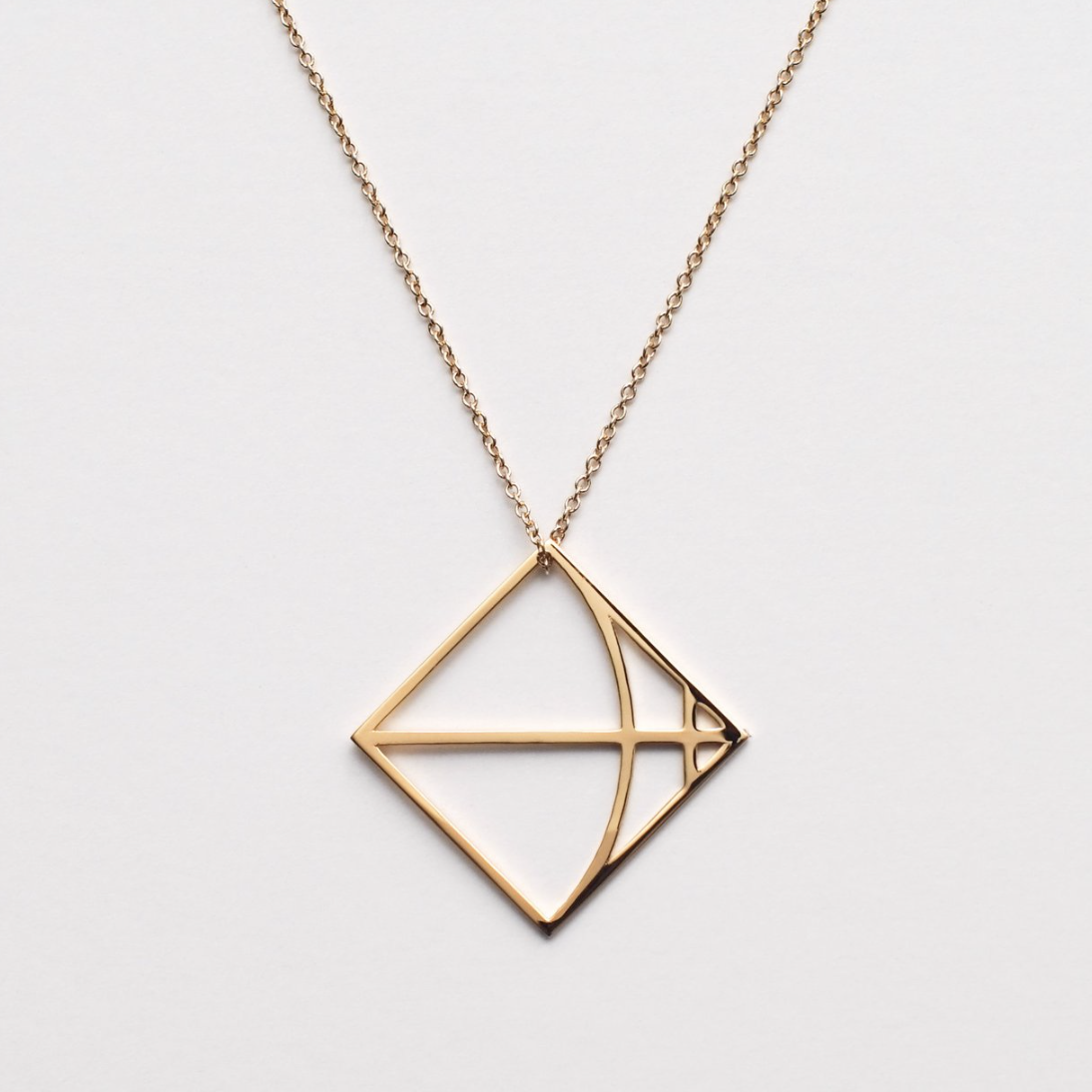Castine - NY Jewlery brand crafted using simple and delicate geometric forms to create a modern interpretation of ancient symbols of the Zodiac. All pendants are created by a 3D printer.