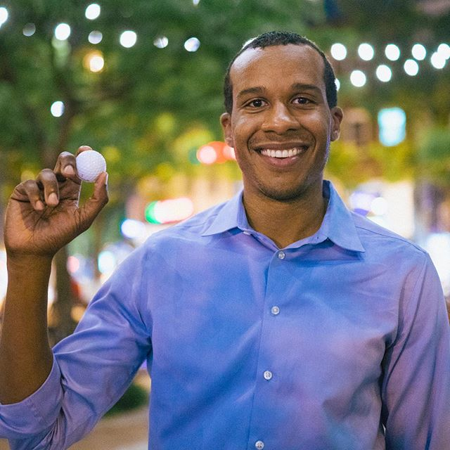 Justin grew up surrounded by the guidance of his mom, aunt, grandma, and male mentors. He is super excited about this golf ball because not only does he love playing, it represents the first tournament he produced with @mbk.dc to help young men of color build mentorships through playing golf.  For a series in partnership with the #schustermanfoundation and @realityisrael, we asked the community to share an artifact that represents their #identity and what social transformation means to them. 📸: @todayiphotographed