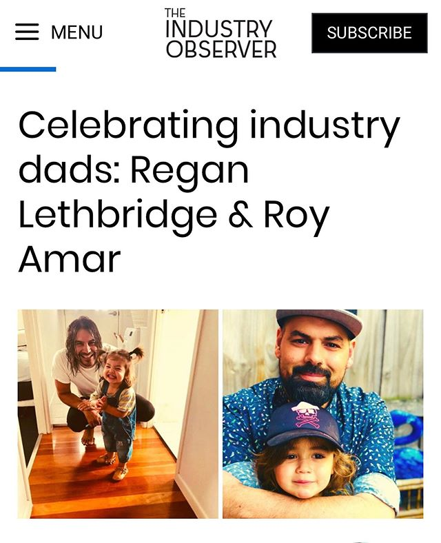 Thanks to the @theindustryobserver for the beautiful article supporting our working dads on this upcoming Father's Day! Full article available on our FB page