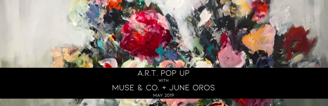 A.R.T. POP-UP FRIDAY - May 35-9pmJoin us as we celebrate the May edition to the 2019 Marietta Square Art Walk season. This First Friday show features original works by the artists of MUSE & Co. and a beautiful collection of florals by June Oros, who will be leading a Mother's Day floral A.R.T. Class on May 9. Evening Highlights:Live Painting with June Oros.+Art Walk Photo Booth Experience with Winters Street Studio.