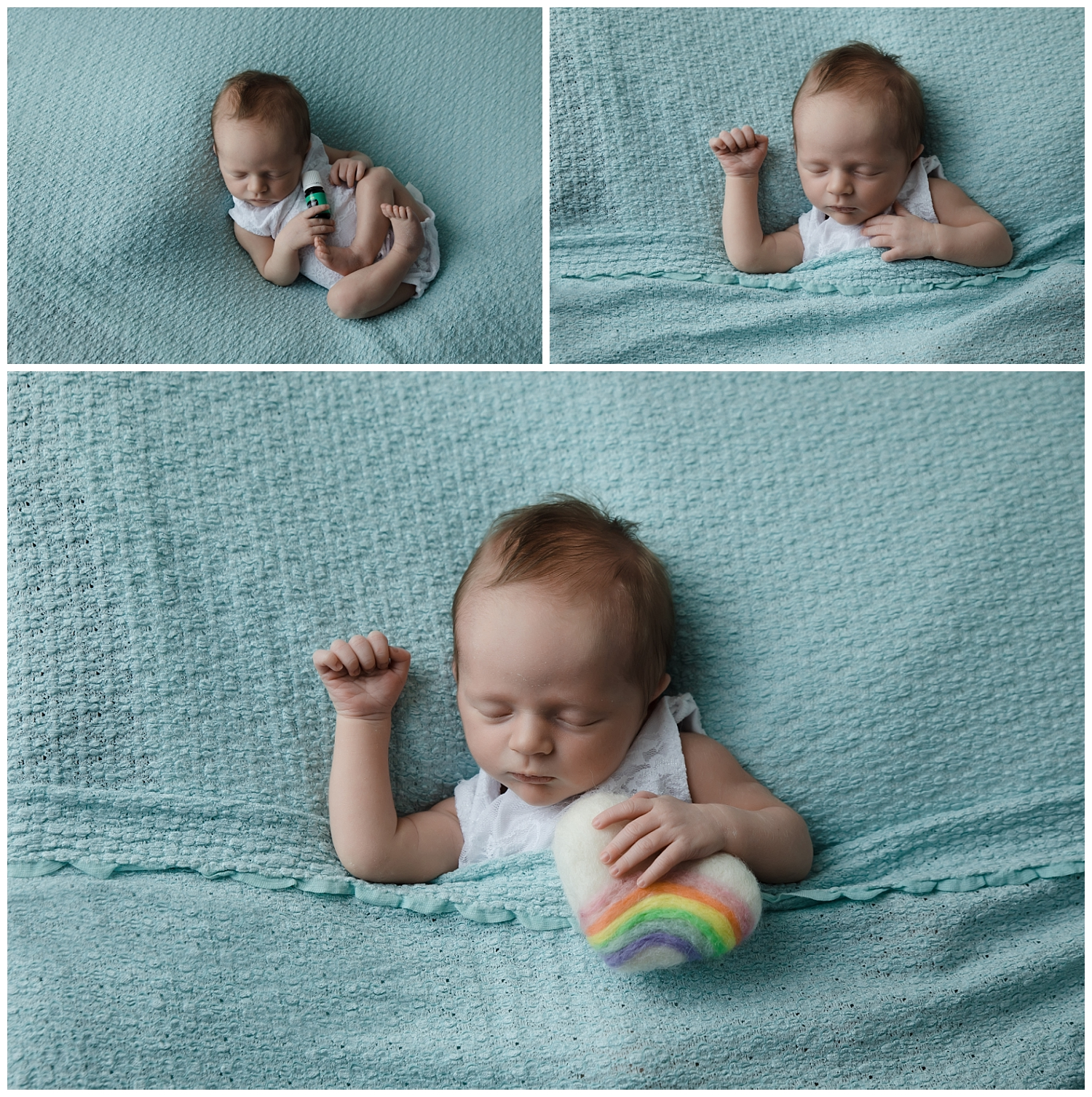 Rainbow baby newborn session in columbus ohio
