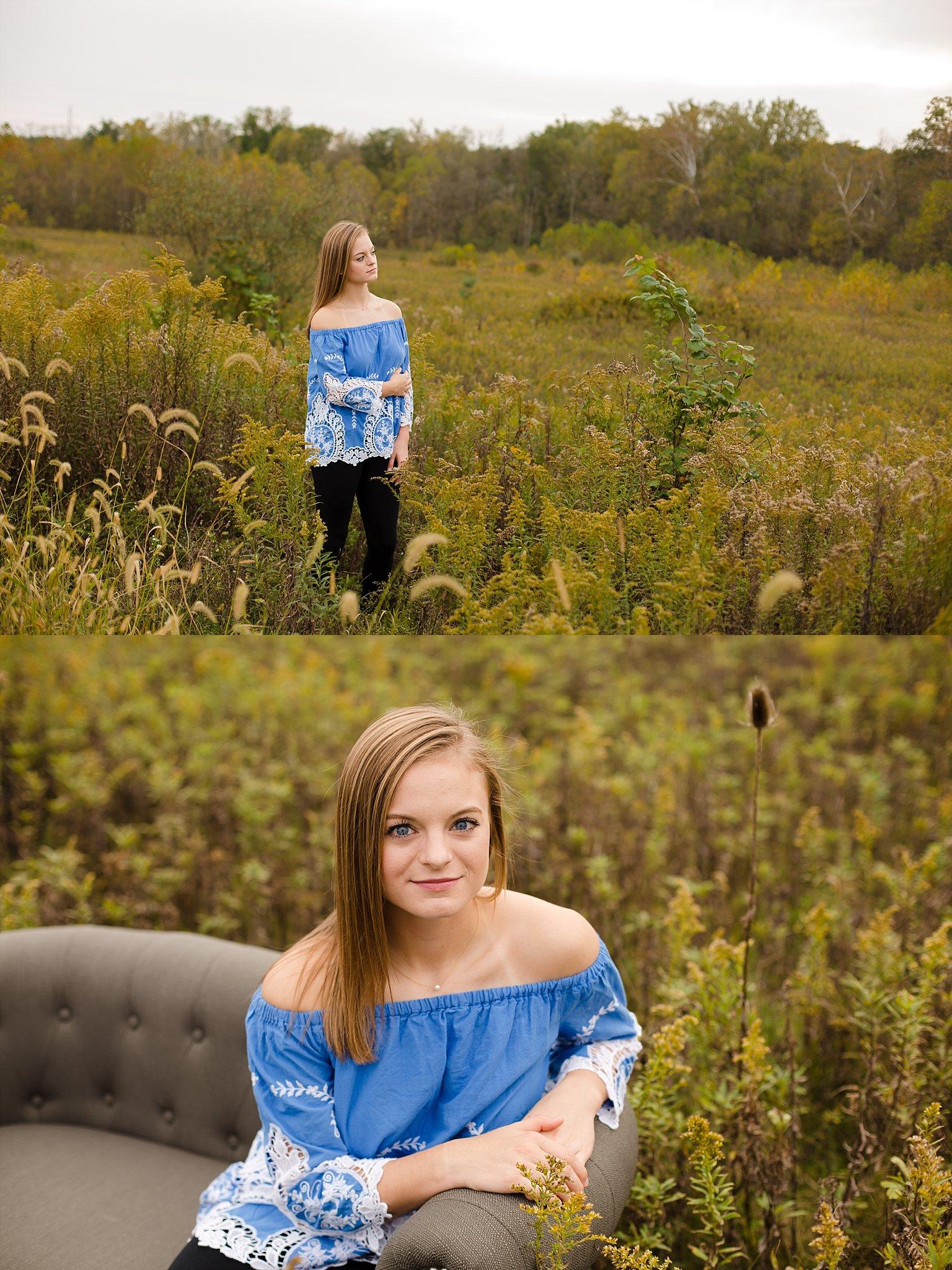 Senior portrait photographer in columbus ohio