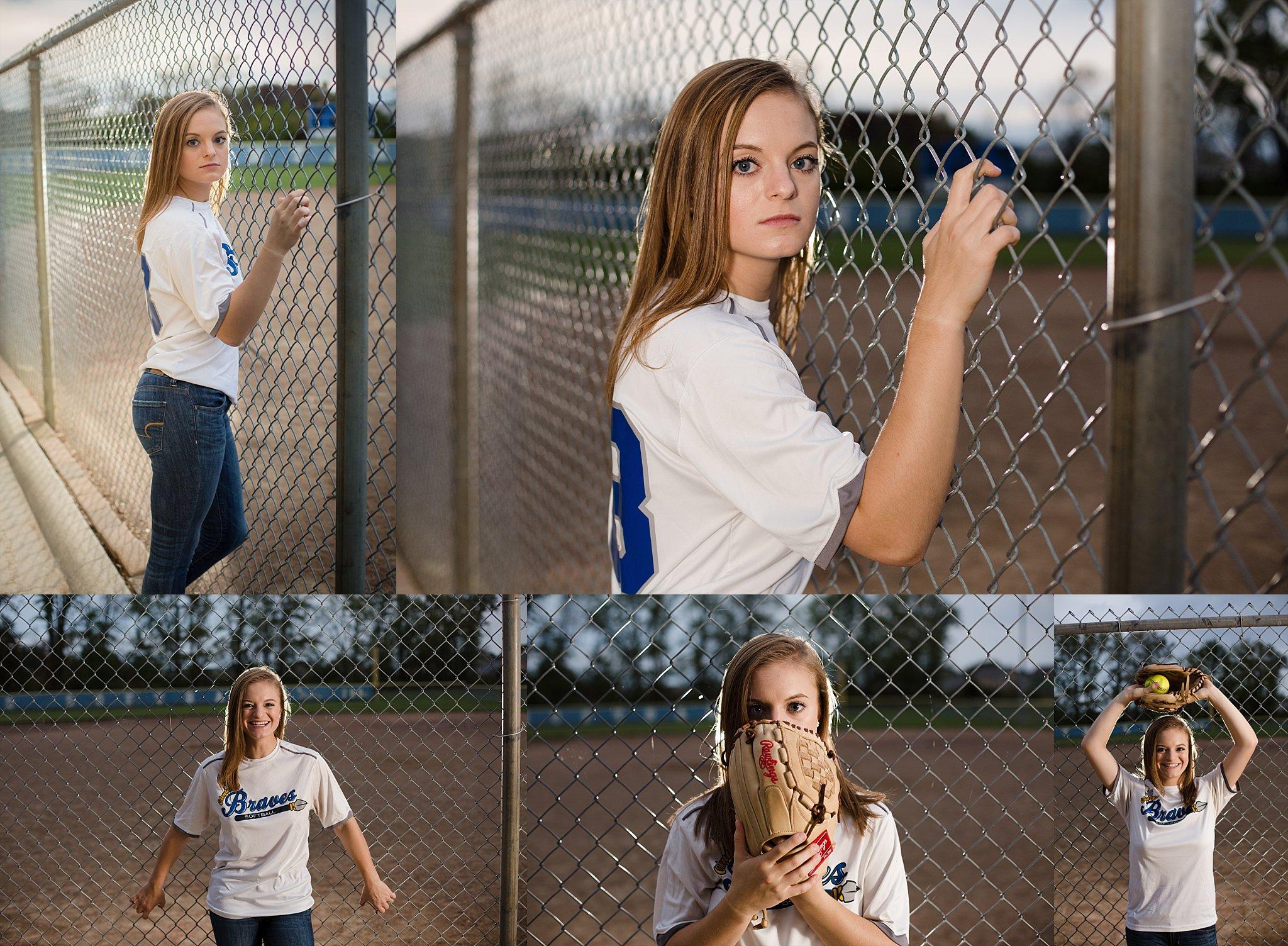Unique softball photos high school senior photographer in columbus ohio