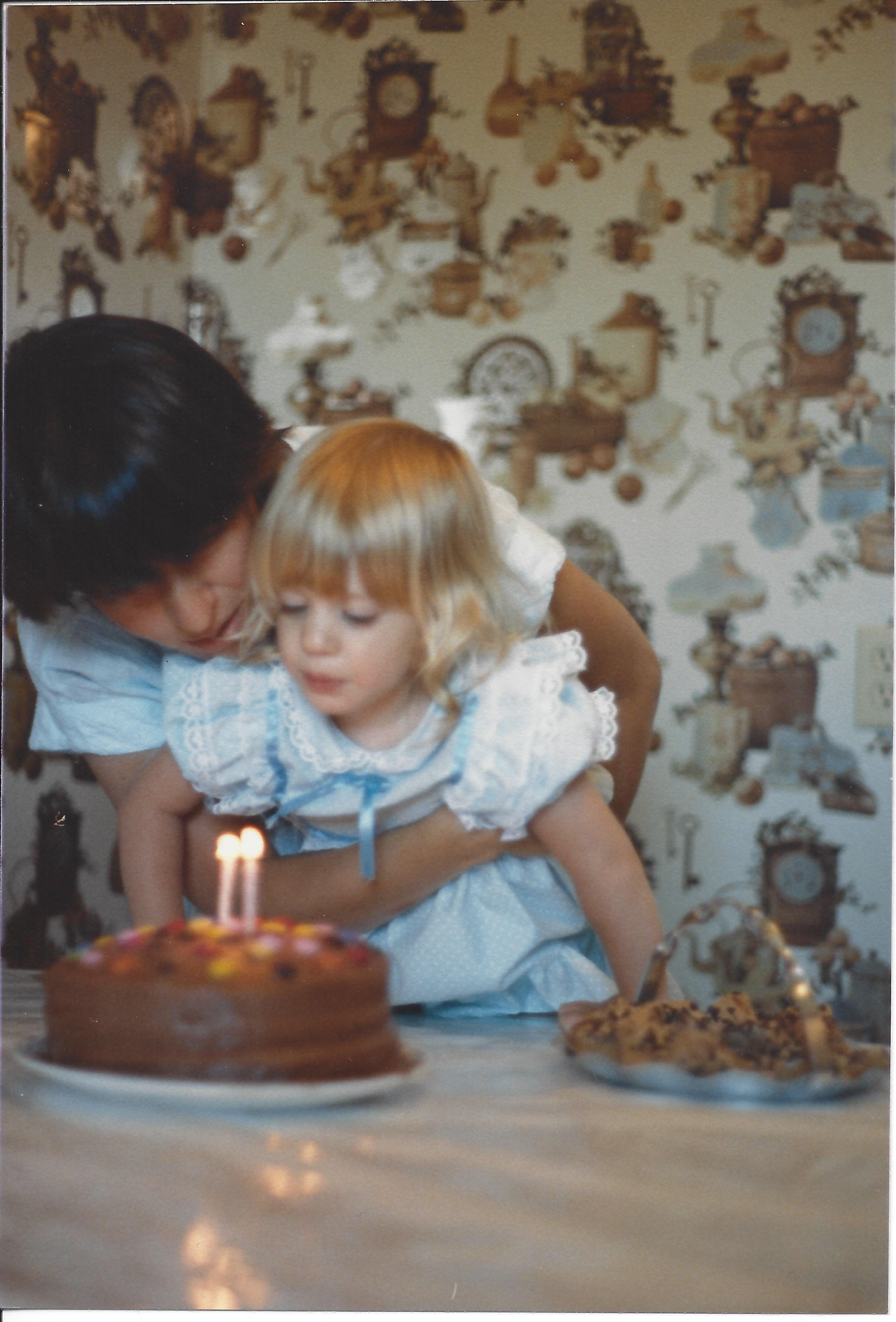 My second birthday. With the best hair.