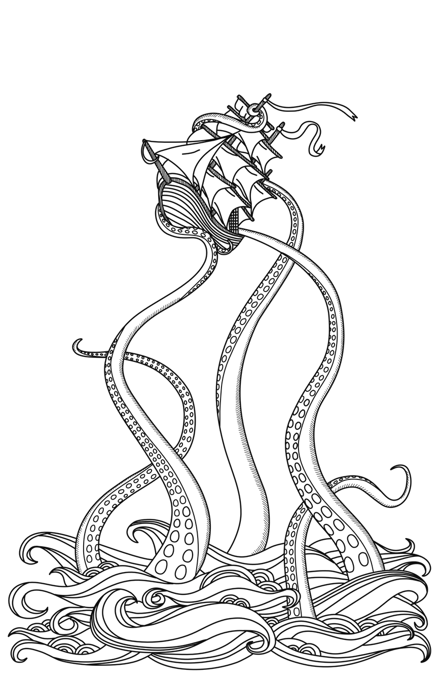 Opening illustration to Part I: Default Thinking and the Kraken of Doom.