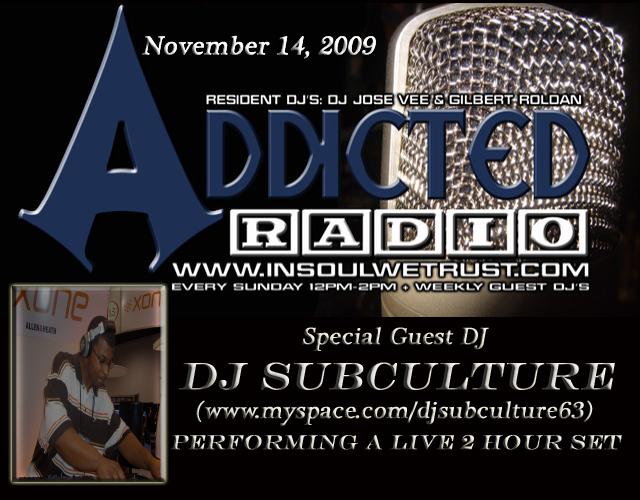 Addicted Radio flyer, 2009.