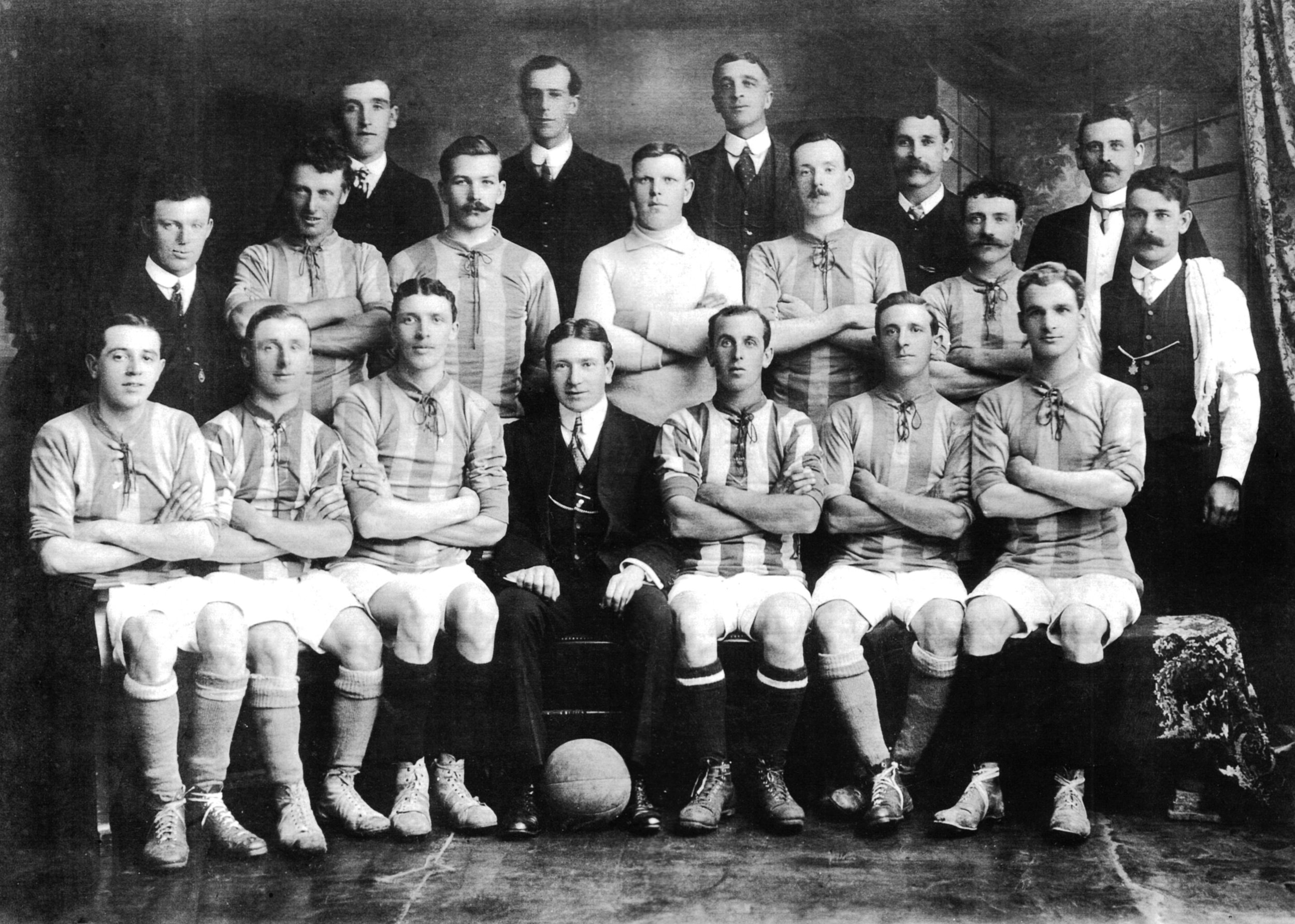 Caledonian Soccer Team in 1913 - This team was effectively decimated as a result of the war and were not able to
