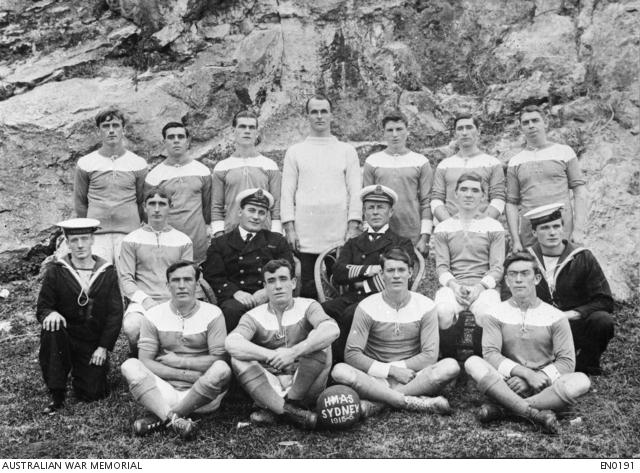 HMAS SYDNEY soccer team - 1915 -