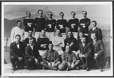 The Adelaide Tramways British Football Club, 1914 team photo. State Library of South Australia. -
