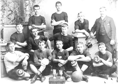 Balgownie Rangers Football Club-1891-team photo - The oldest known photo of a Balgownie Rangers FC teamEST:1883 Balgownie is the oldest known existing football club in AustraliaCurrently competing both mens and womans teams in the Illawarra District League(Balgownie Rangers)