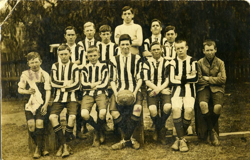 The Weston Magpies Soccer Team, 1915 - (coalandcommunity.com)