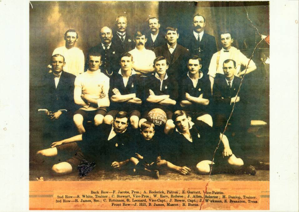 Pelaw Main - British Football Premiers, 1918 - (University of Newcastle)