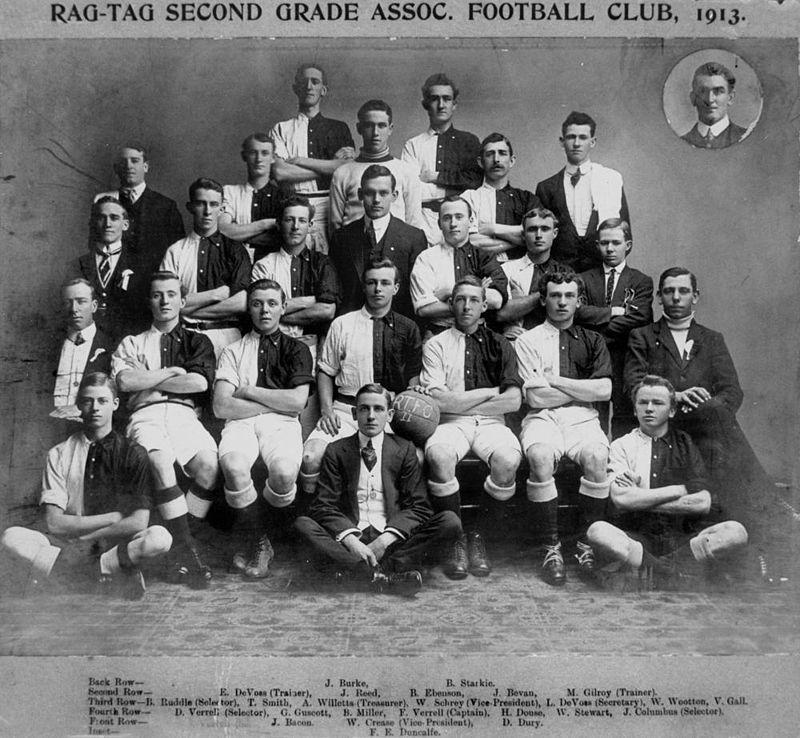 Rag-tag Second Grade Association Football Club 1913 - (StateLibQld)