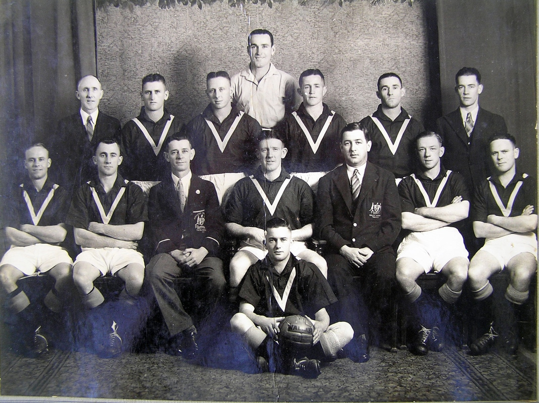 Australian team -1938-against touring Indian team - Australia played a series of five A internationals against a visiting Indian side. Although a little unorthodox in their tactics the Indian tour proved a financial hit and was a highly competitive series