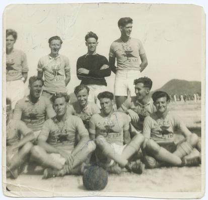 Kangaroo soccer team RAAF -1945- japan - State Library of South Australia