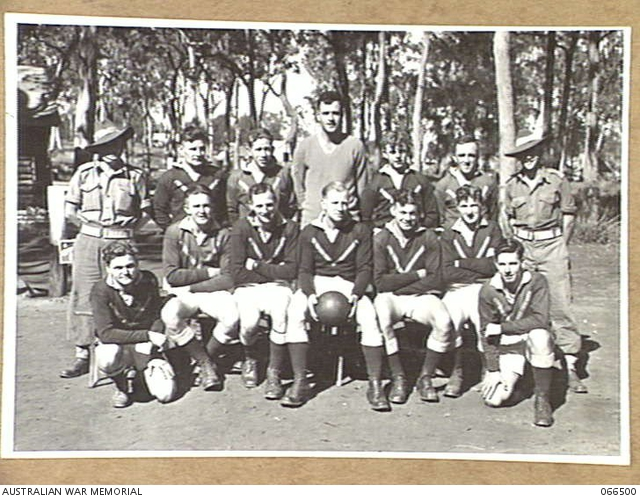 WONDECLA AREA, QUEENSLAND, AUSTRALIA. 1944-05-25. MEMBERS OF THE SOCCER TEAM OF THE 2/5TH INFANTRY BATTALION. -