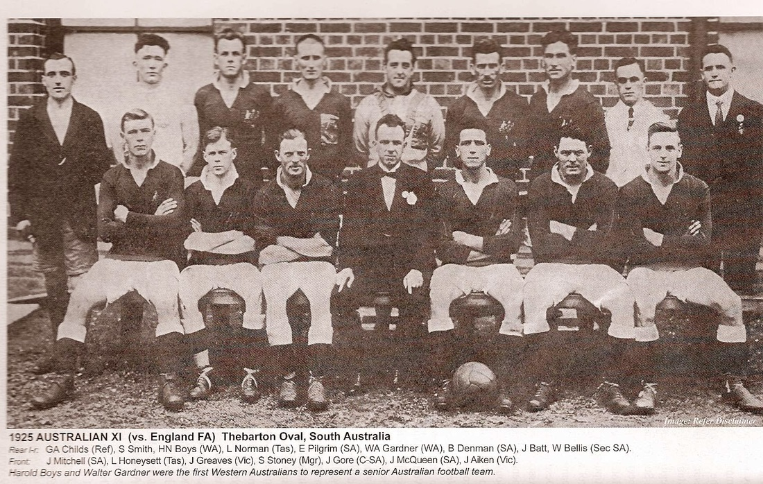 Australian XI -1925- - An English FA side toured Australia in 1925. When the visiting English FA side arrived they played two