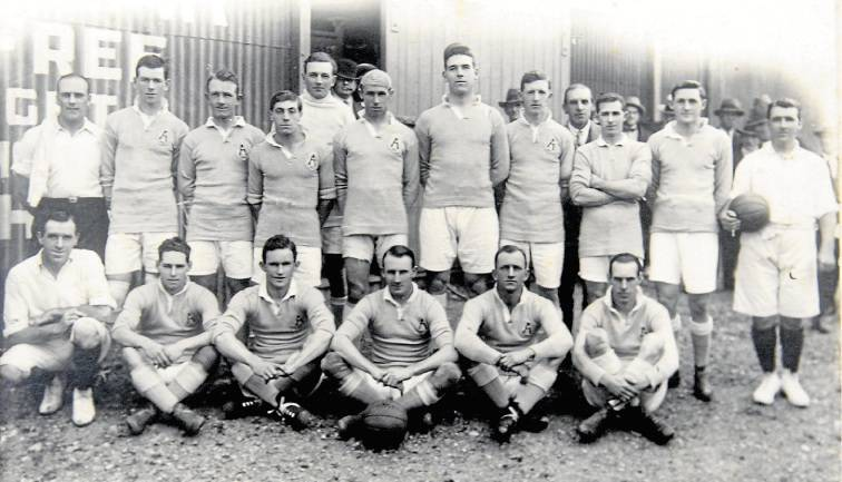 - The Australian team which played China at Newcastle in 1923. Judy Masters, who captained Australia in 22 international games, was known for his agility and sportsmanship, and is pictured in the front row with the ball.(Illawarra Remembers)