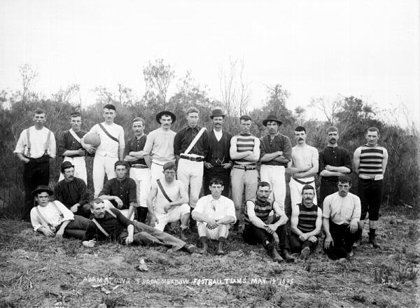 Adamstown and Broadmeadow football teams - 18/05/1895(TROVE)