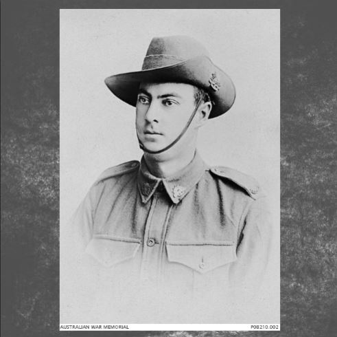Studio portrait of 3139 Private (Pte) James (Barney) Cowan, 48th Battalion, of Fremantle, WA. A clerk prior to enlisting in November 1916 Pte Cowan embarked from Fremantle with the 8th Reinforcements on board HMAT Berrima (A35) on 23 December 1916. On 24 November 1917 he died in Birmingham General Hospital of wounds received in action at Passchendaele, Belgium. He was 30 years of age. This is one of a collection of eight photographs relating to the Caledonian Soccer Club, Fremantle, WA. -