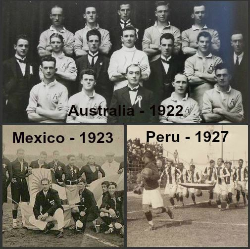 The Australian Mens National team (Socceroos) first official game (1922) pre-dates countries such as:Mexico (1923) …Turkey (1923) …Peru (1927) &.Greece (1929) -