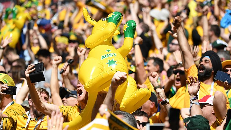 5,905 tickets were sold to Aussie fans for the 2018 world cup - We ranked 9th for tickets soldWe bought more tickets thanEngland-France-SpainAussie fans have ranked inside the top 10 for travelling supporters in the last 4 World Cups