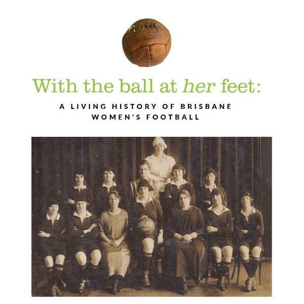With the ball at her feet