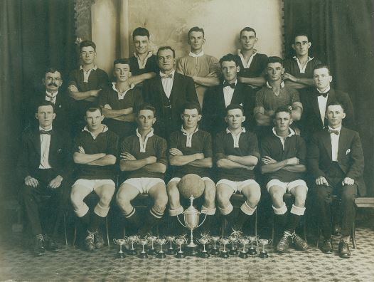 Booval Pompadours Soccer Football Club, Booval (Junior), Ipswich, 1926 - (Ipswich Libraries)