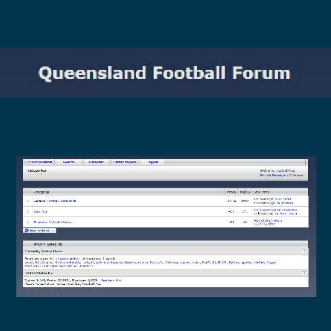 Queensland Football Forum / log in required
