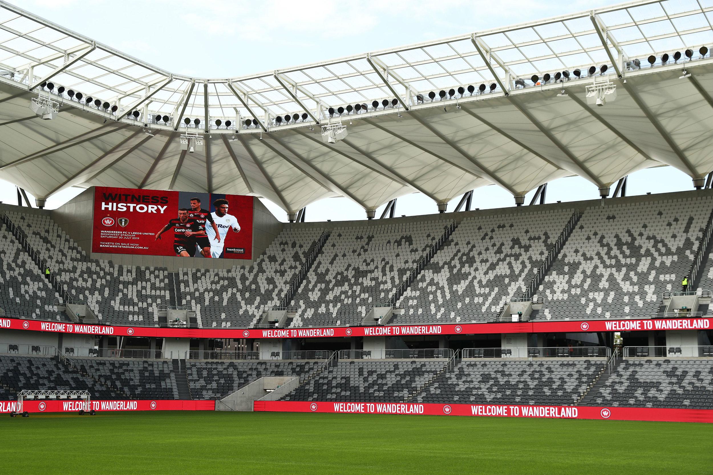 Western Sydney Wanderers - Bankwest StadiumCapacity: 30000