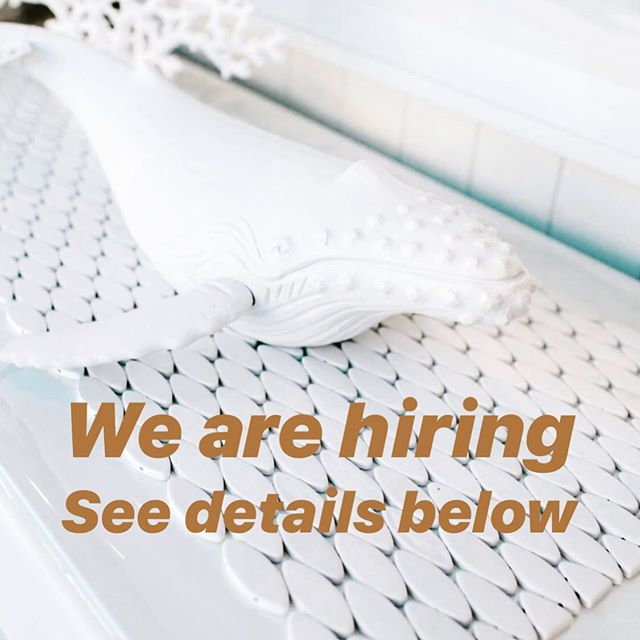 It doesn't happen often but we are hiring weekend sales staff!! If you have amazing customer service skills and would love to join our team please email your resume to Liz sales@homebody.net.au