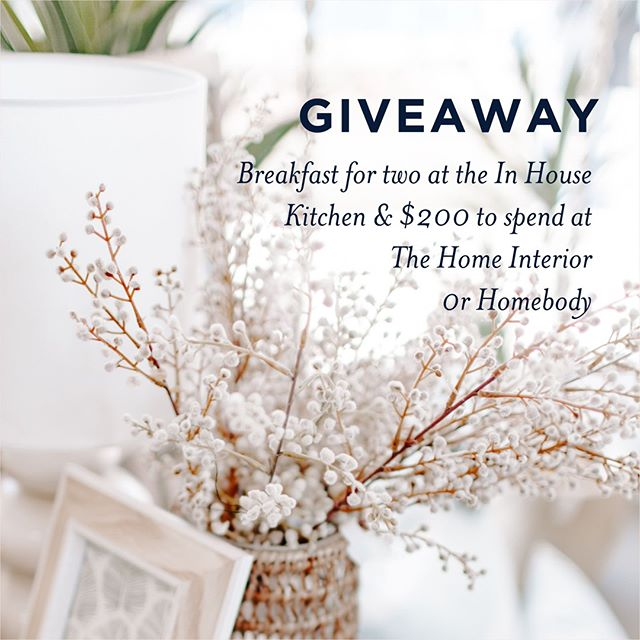 Our giveaway is getting closer ! Winner will be announced at the end of this month so don't miss your chance! Any questions, feel free to send us a message⠀ ⠀ To go in the draw:⠀⠀ ⠀⠀ Make sure you're following us @inhouse_kitchen @homebodynelsonbay @thehomeinterior ⠀ ⠀⠀ Share your favourite photo from any of our accounts on your feed & tag all three accounts. ⠀⠀ ⠀ In your caption - tell us what you love about visiting us ⠀⠀ It's that easy ! Competition closes on October 31st