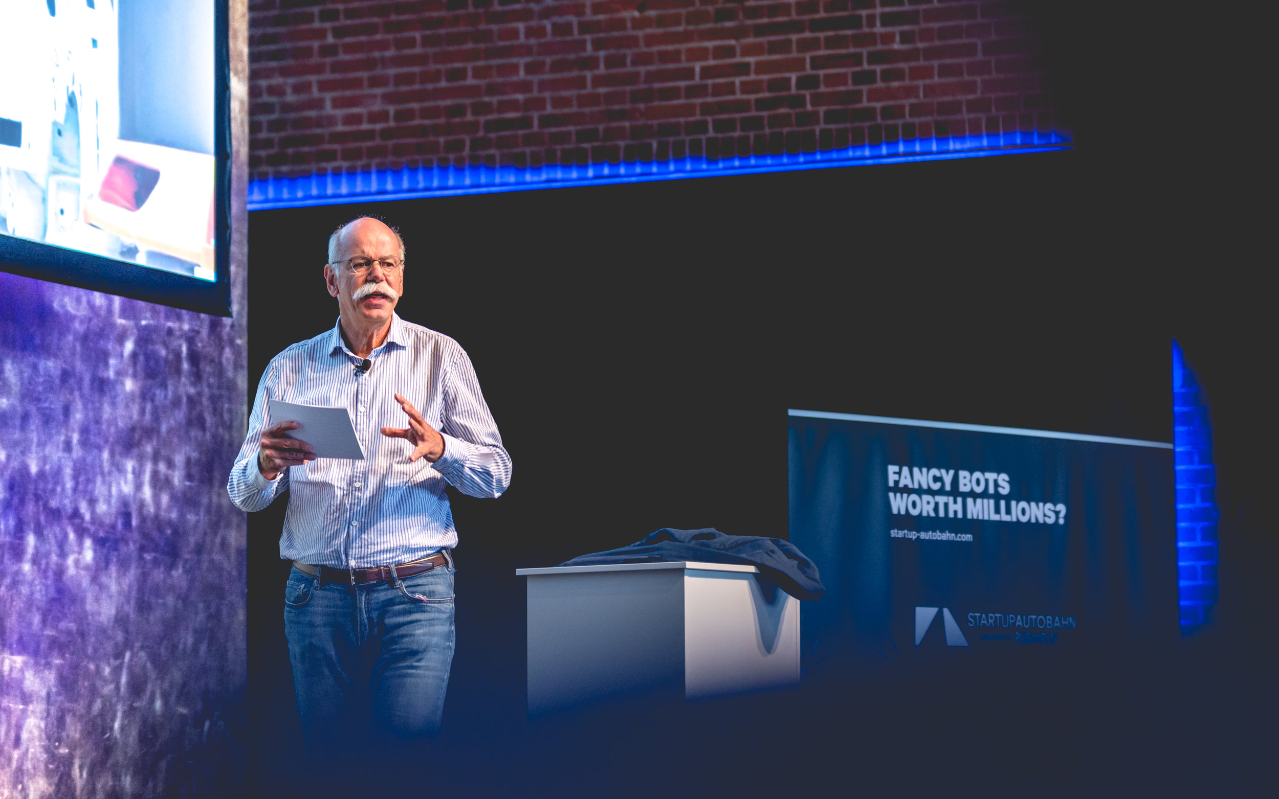 Dieter Zetsche - chairman of Daimler and Head of Mercedes-Benz - launches Startup Autobahn in Stuttgart.