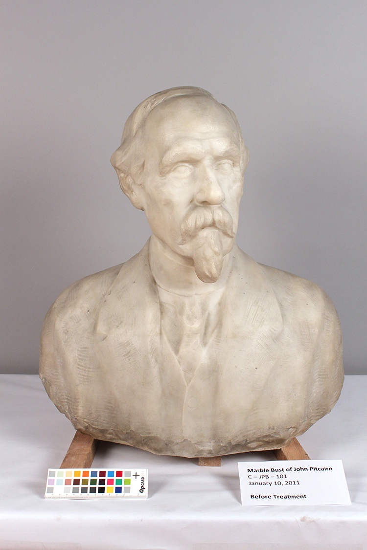 Marble Bust of John Pitcairn<strong>Glencairn Museum, Bryn Athyn, PA</strong>