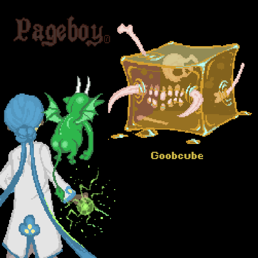 TACTICS - The goobcube is a biproduct of alchemy, and poses a real threat to swordsmen and pugilists, as it totally ignores physical damage. You will need to think of an alternate strategy to get through this encounter.