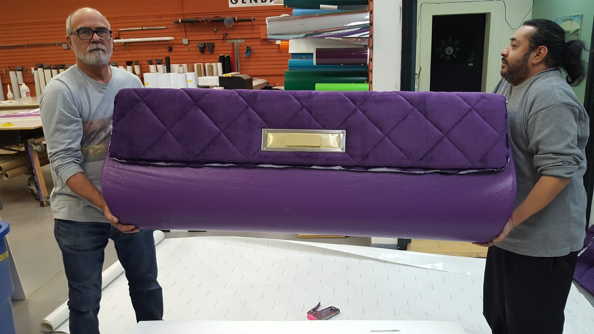 Quilted back for Chanel seat – client wanted a seat to look like a Chanel purse.