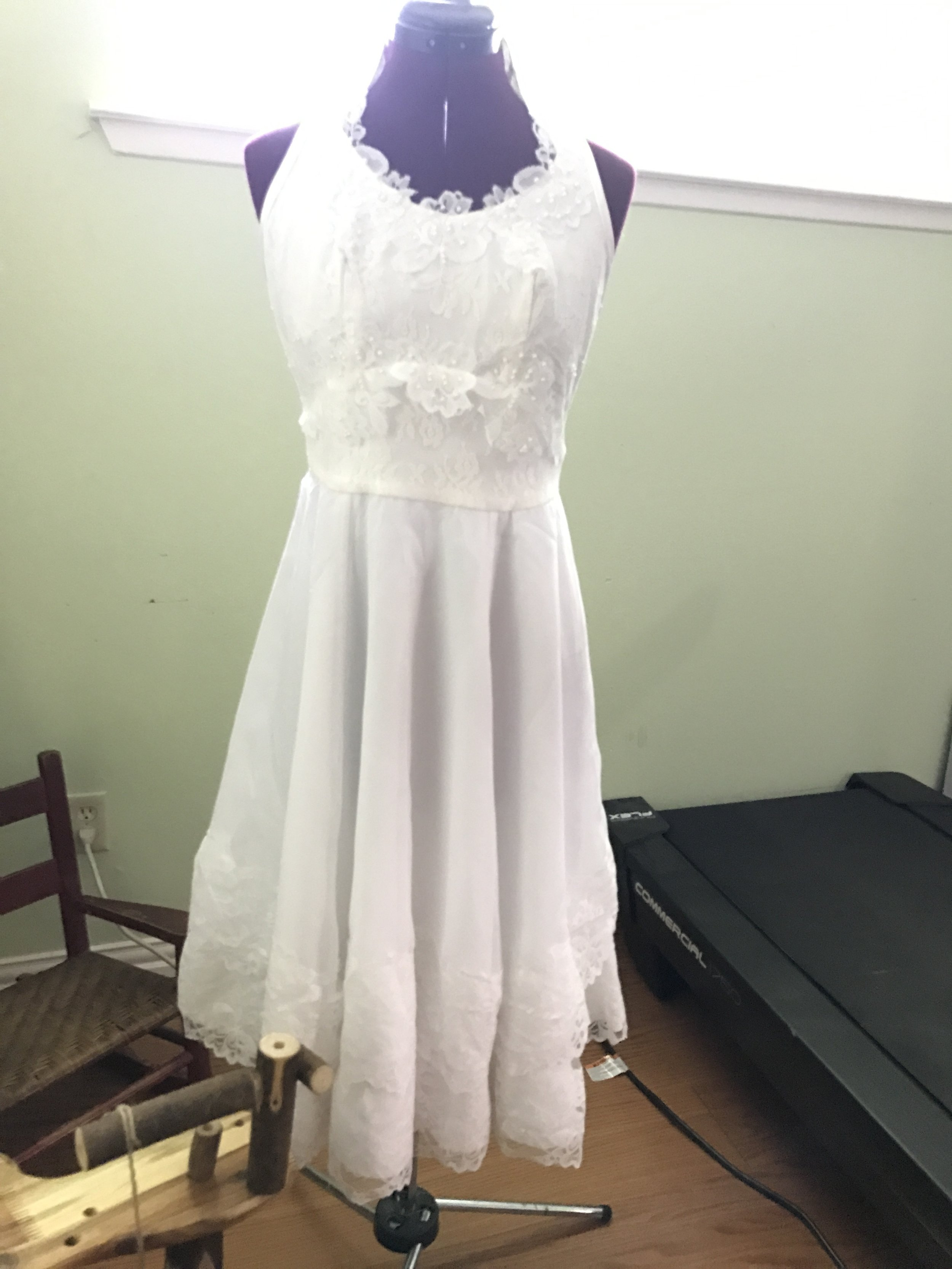 I have also repeatedly been hired to make a daughter's wedding dress out of a mother's wedding dress.