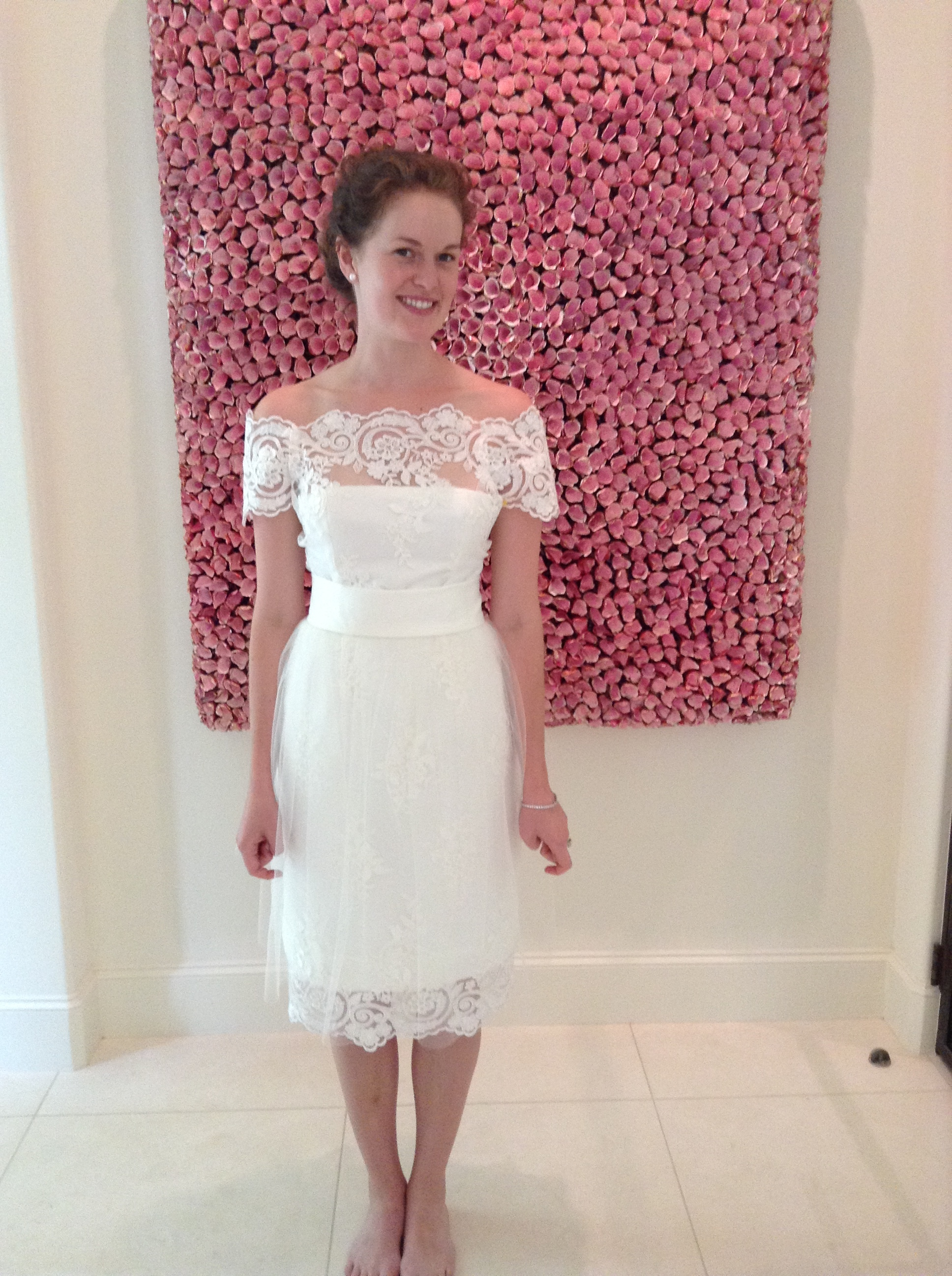 Another daughter's wedding dress made from the mother's wedding dress.