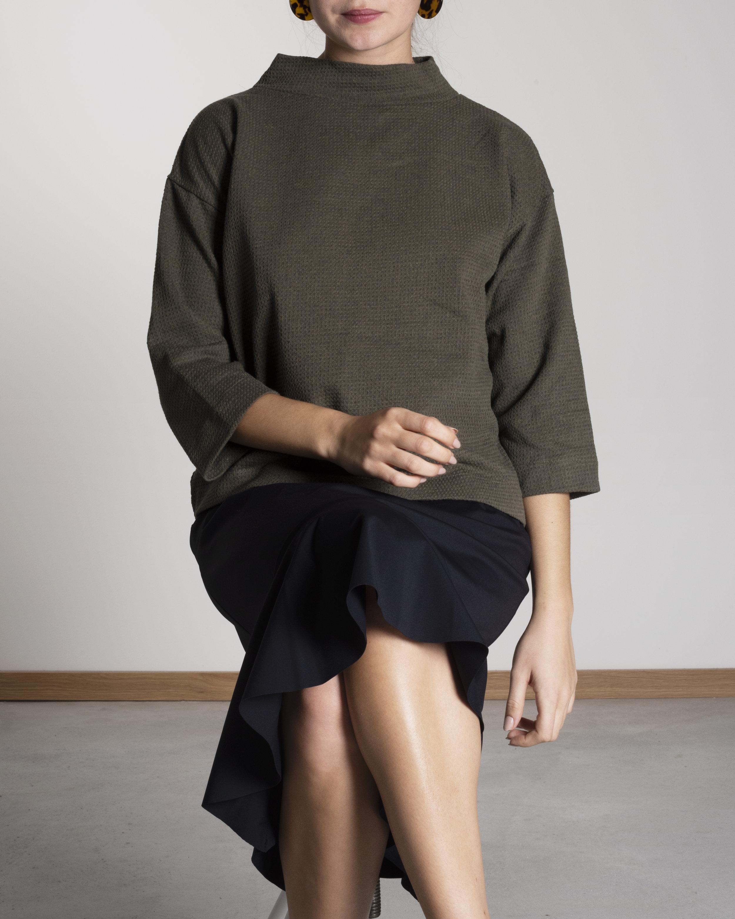 SORA Dress black+ KALLISTO olive.jpg