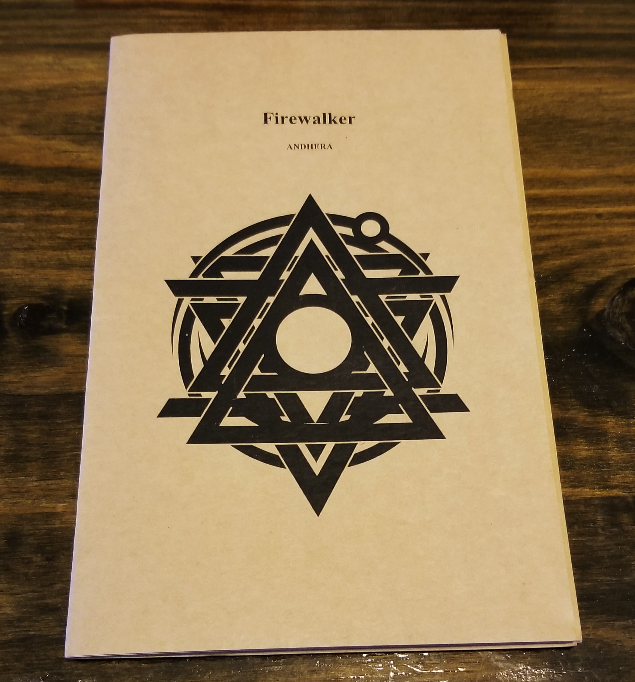 """Firewalker"" Mythology Pamphlet"