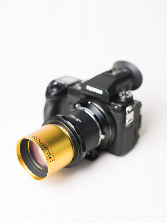 Schneider Cinelux mounted on a Fujifilm GFX 50S Medium Format Digital Camera