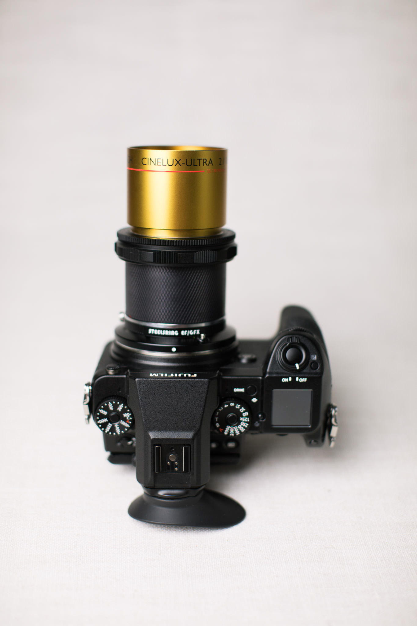 Fujifilm GFX with Schneider Cinelux Ultra MC 105mm f/2