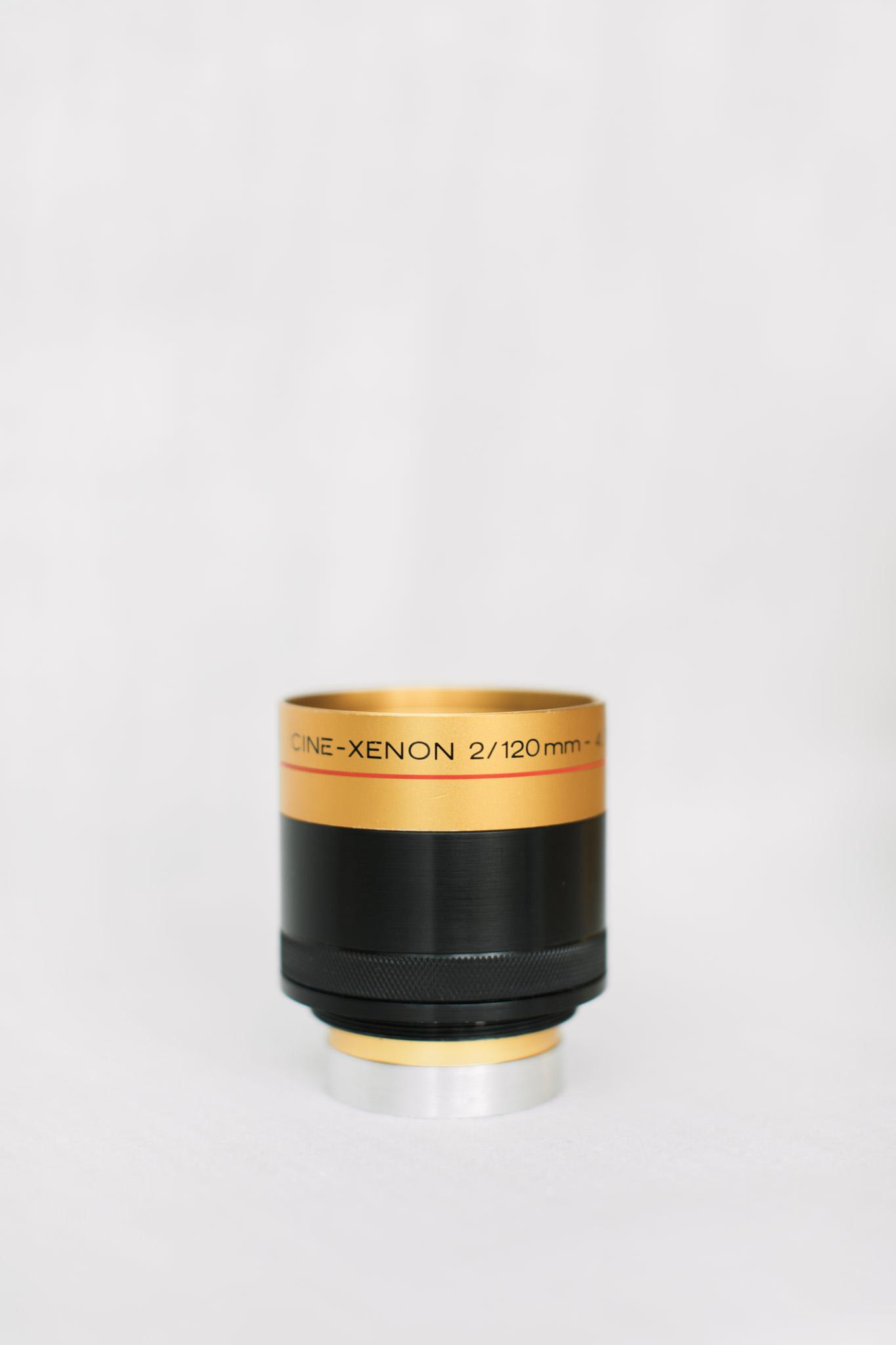 Schneider Cine-Xenon 120mm f/2 with aperture added