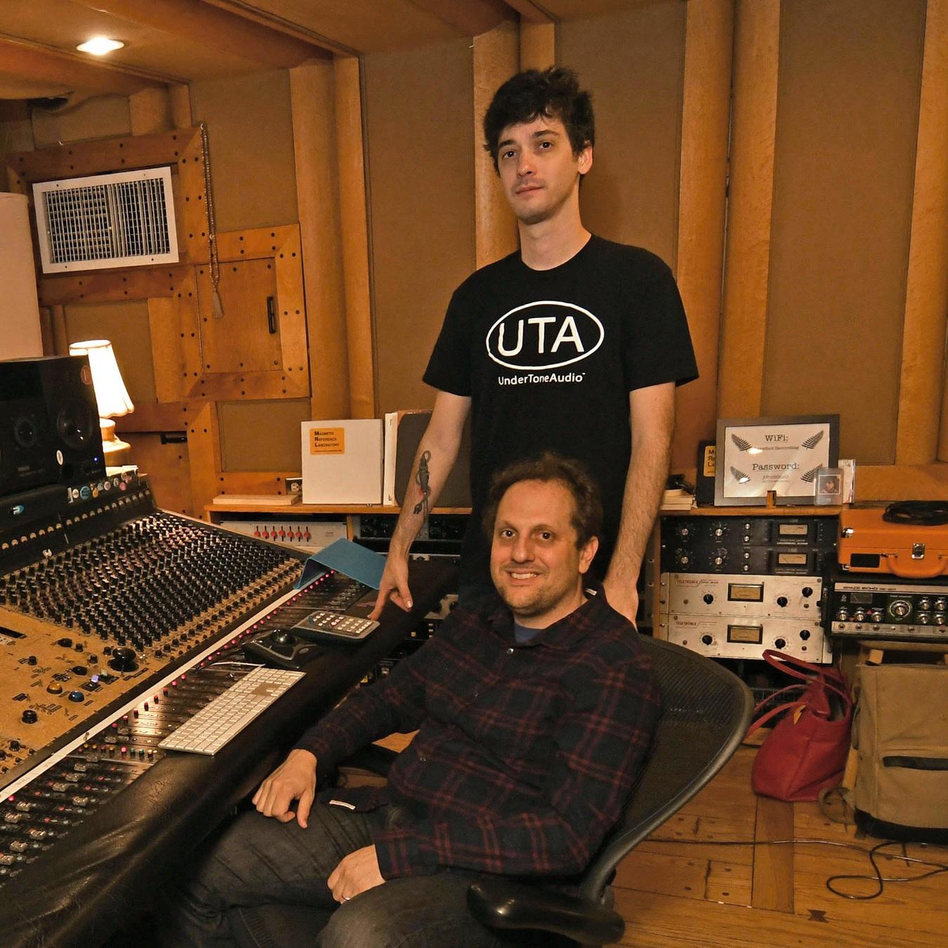 Tim O'Sullivan and Joe Napolitano, the producers/engineers in Studio B