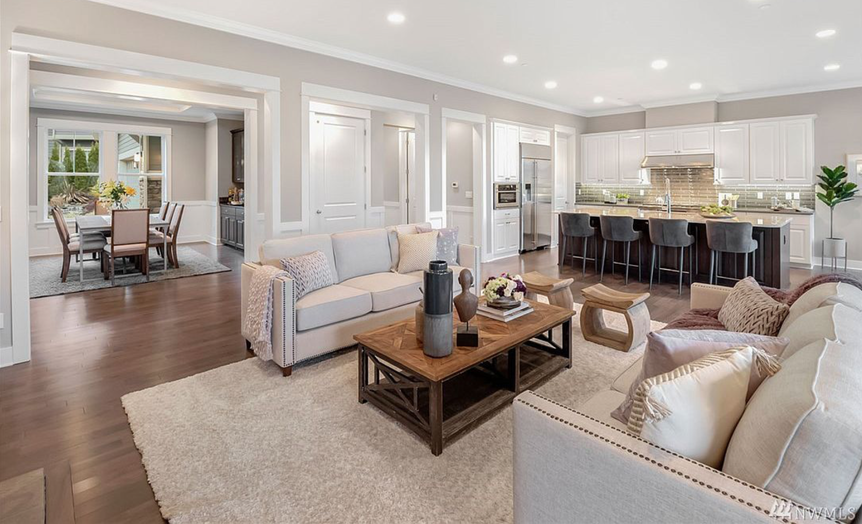 The unbelievable open floor plan makes for the perfect home to entertain in!