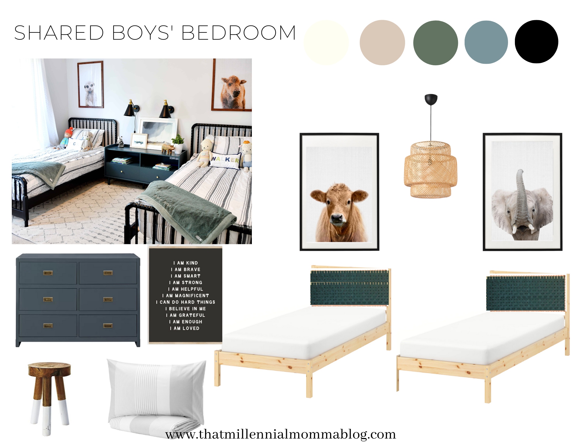 Pinterest Pondering A Shared Boys Bedroom That Millennial Momma